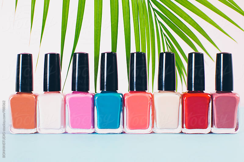 Nail polish bottles collection.  by BONNINSTUDIO for Stocksy United