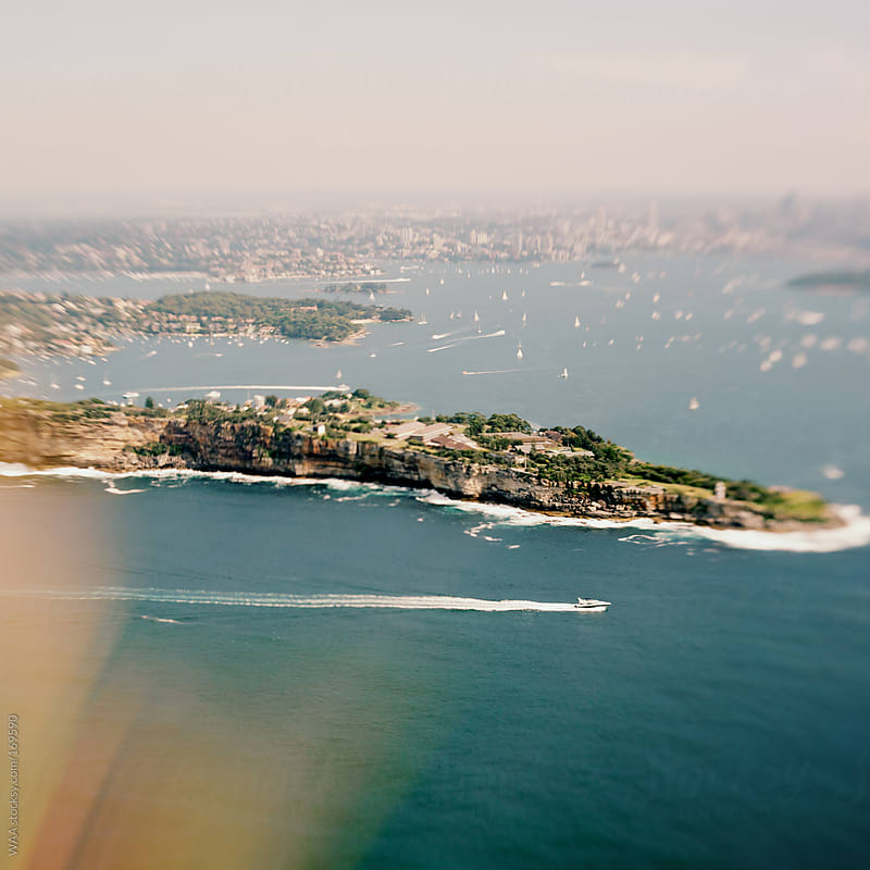 Sydney Harbour Aerial View by WAA for Stocksy United