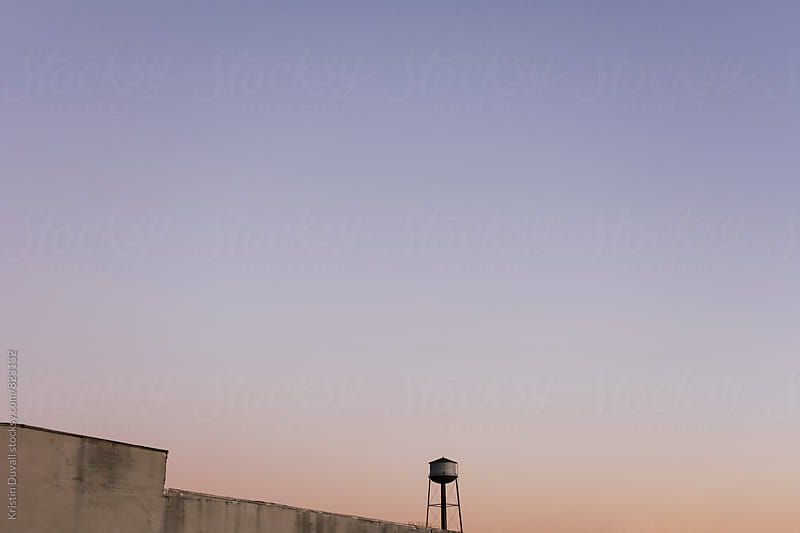 Watertower at sunset. Brooklyn. New York City. by Kristin Duvall for Stocksy United
