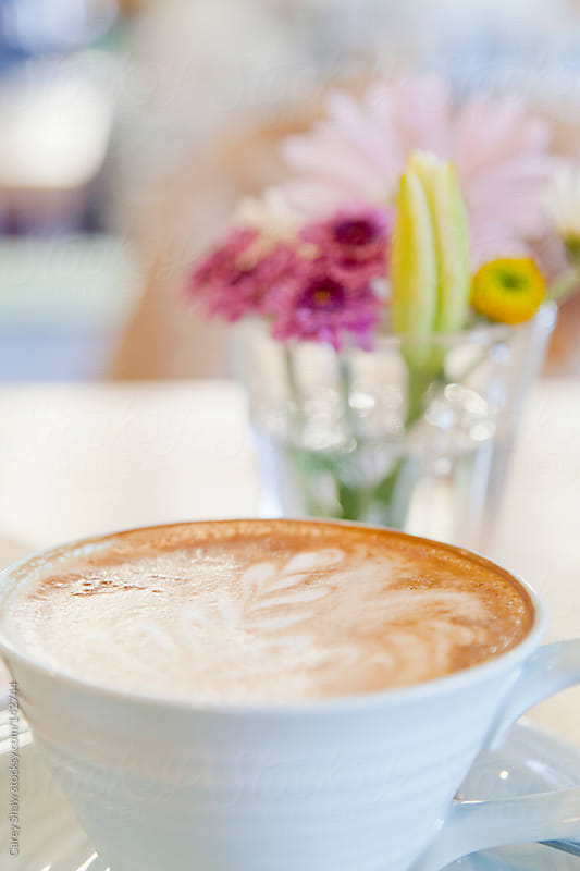 Coffee and flowers by Carey Shaw for Stocksy United