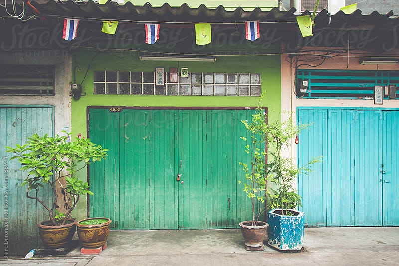 Green Door by Diane Durongpisitkul for Stocksy United
