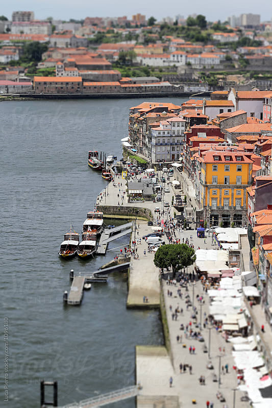 View of the Ribeira and Douro's river, Porto, Portugal by Luca Pierro for Stocksy United