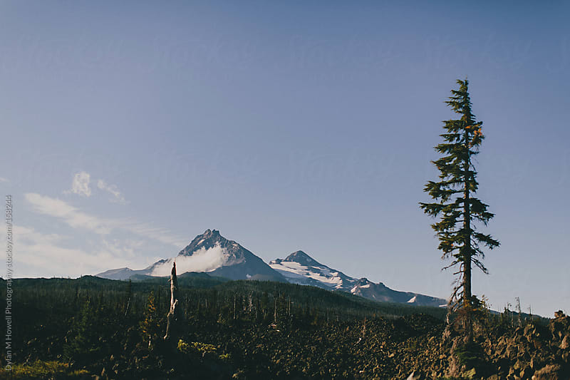 Volcanos in Sisters Oregon by Dylan M Howell Photography for Stocksy United