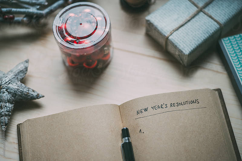 Making the New Year's resolutions list by Aleksandra Jankovic for Stocksy United