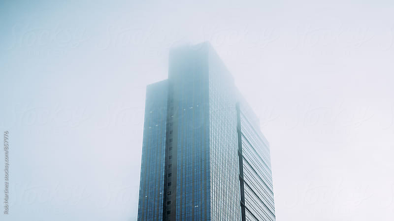 FOGGY BUILDING by Rob Martinez for Stocksy United