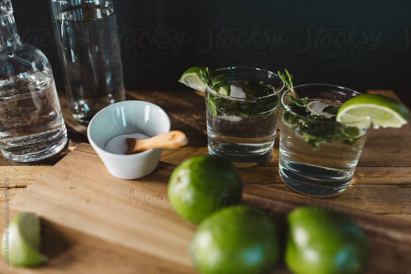 The Making of Mint Mojitos by Daniel Inskeep for Stocksy United