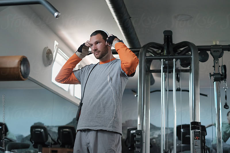 Man at the gym by Jelena Jojic Tomic for Stocksy United