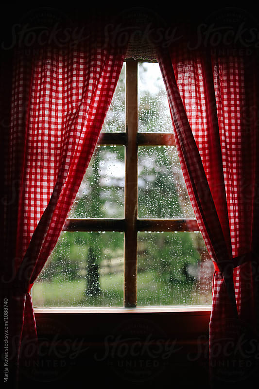 Raindrops on the window by Marija Kovac for Stocksy United