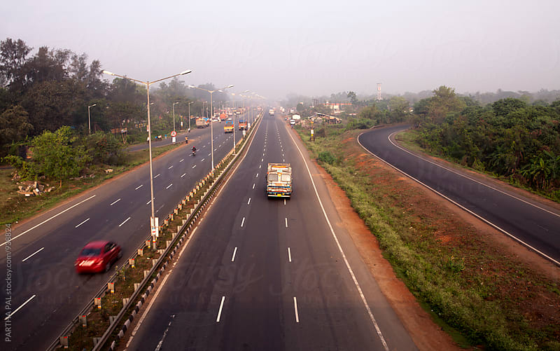 Top view of Indian National Highway by PARTHA PAL for Stocksy United