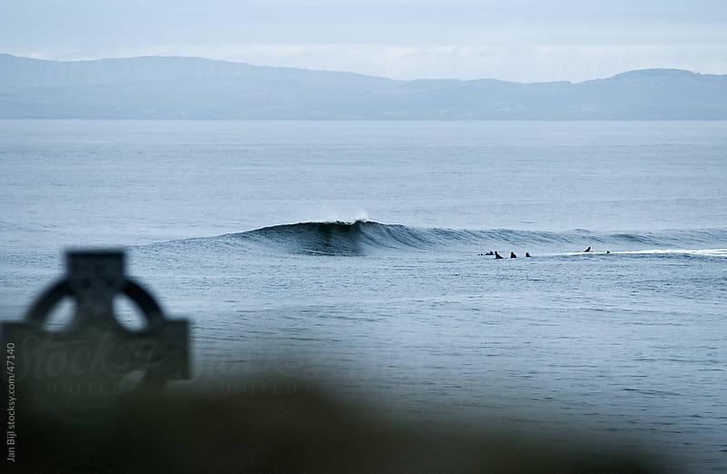 waves breaking in Ireland, Bundoran. by Jan Bijl for Stocksy United