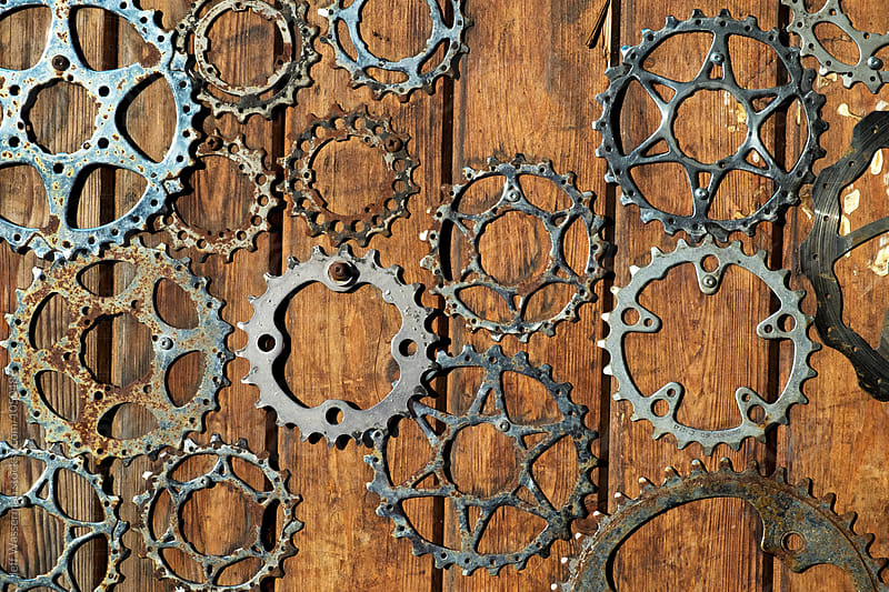 Bicycle Sprockets  by Jeff Wasserman for Stocksy United