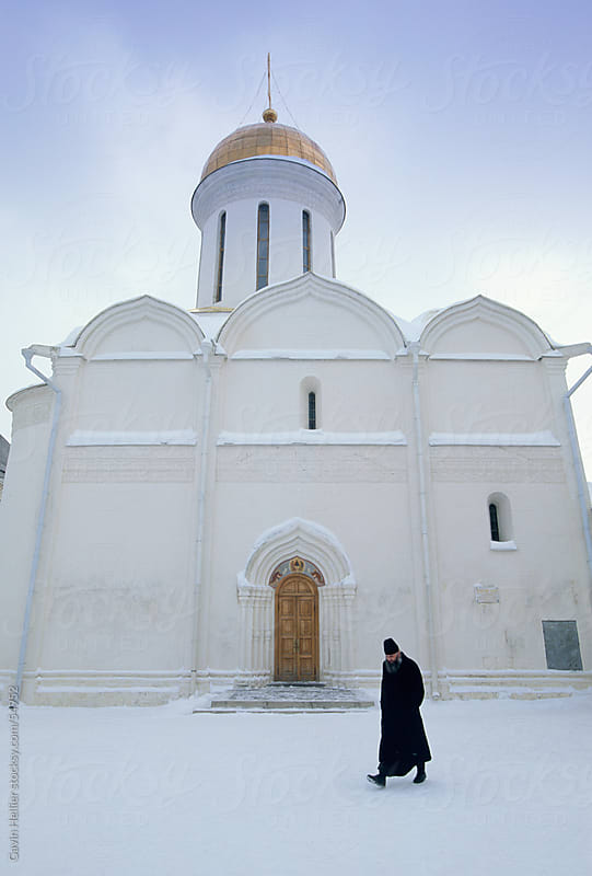 Trinity Monastery of the Christian St. Sergius Cathedral of the Assumption in winter snow by Gavin Hellier for Stocksy United