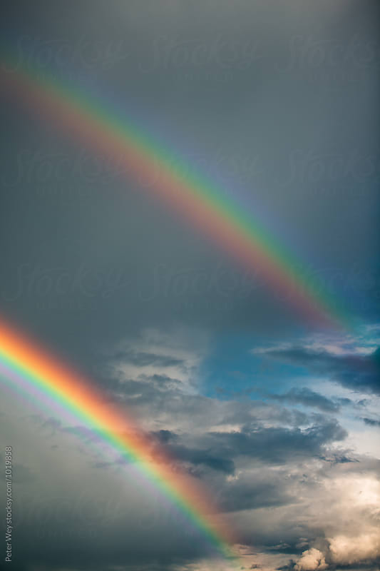 Double rainbow by Peter Wey for Stocksy United