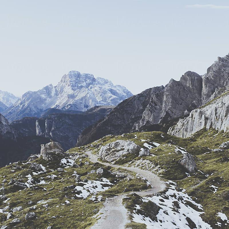 Hiking in the Italian Dolomites by Luke Gram for Stocksy United