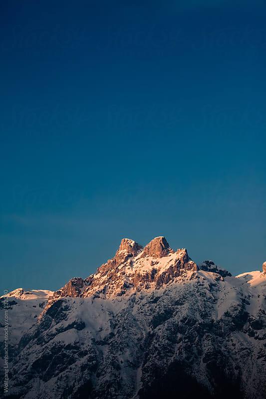 Austrian mountain peak by Wolfgang Lienbacher for Stocksy United