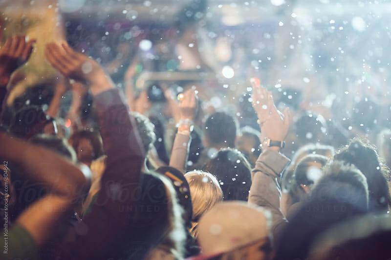 Dancing crowd at live concert, festival by Robert Kohlhuber for Stocksy United