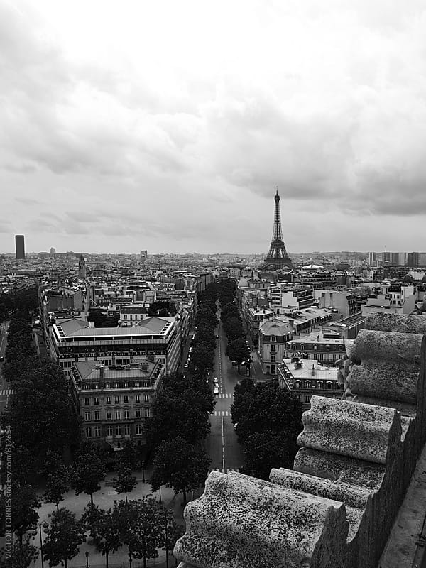 Paris Cityscape by Victor Torres for Stocksy United