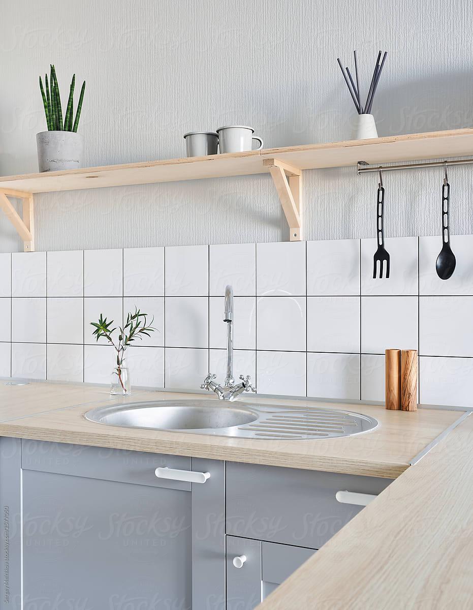 Shelf over sink in kitchen by Sergey Melnikov - Kitchen ...