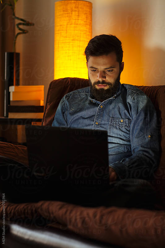 Working late from home by MEM Studio for Stocksy United