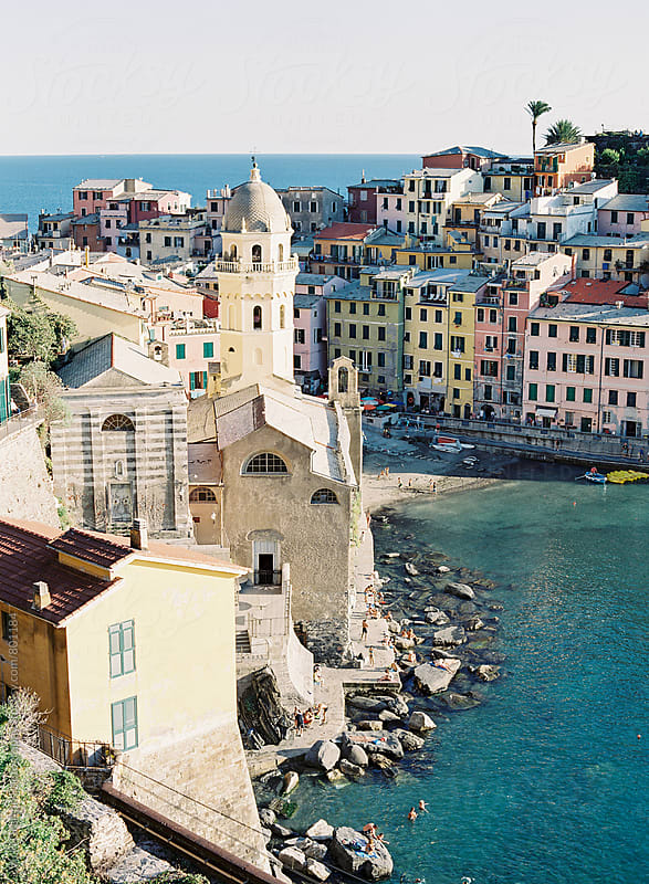 Coastal town of Vernazza in Cinque Terre Italy by Vicki Grafton Photography for Stocksy United
