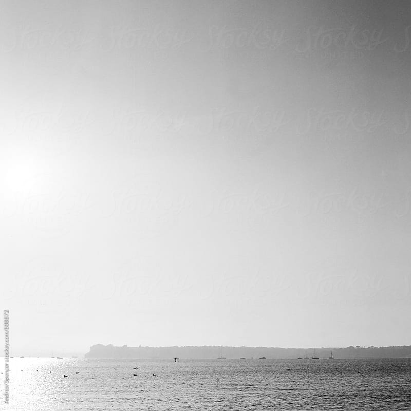 Calm sea at Sandbanks by Andrew Spencer for Stocksy United