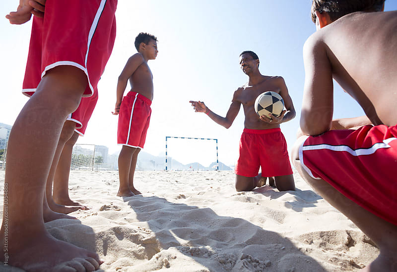 Beach Soccer School. Rio de Janeiro. Brazil. by Hugh Sitton for Stocksy United