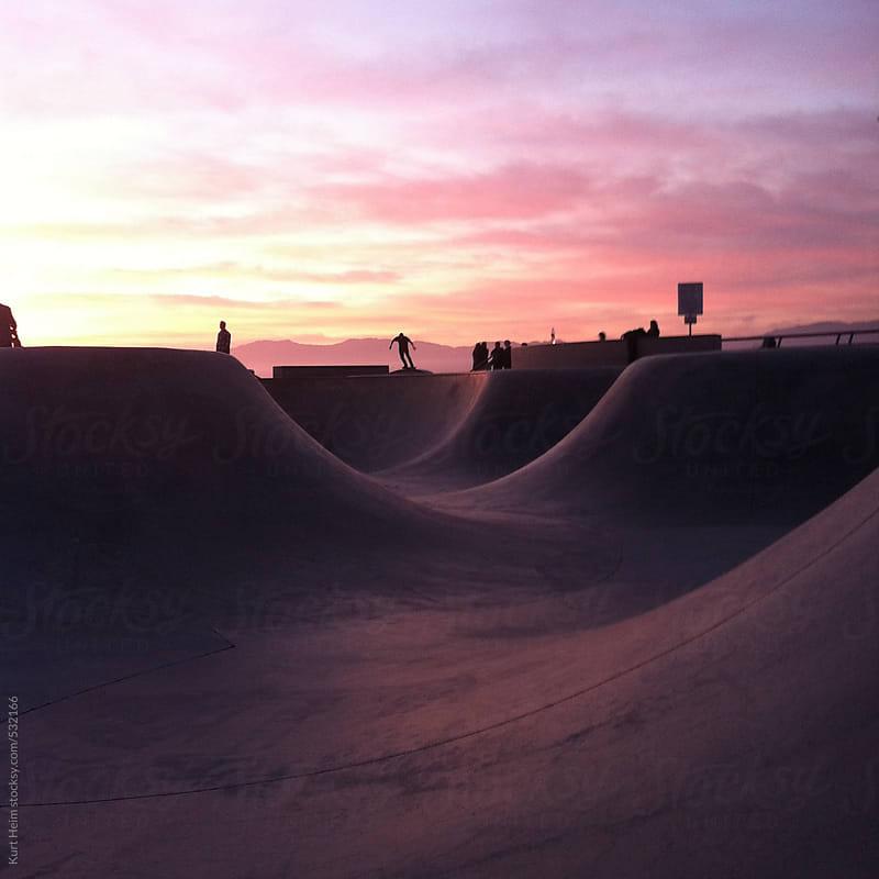Sunset Snake Run of Skate Park by Kurt Heim for Stocksy United