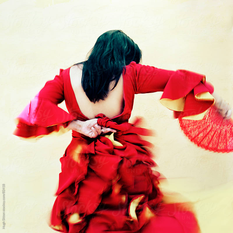 Flamenco dancer performing.  by Hugh Sitton for Stocksy United