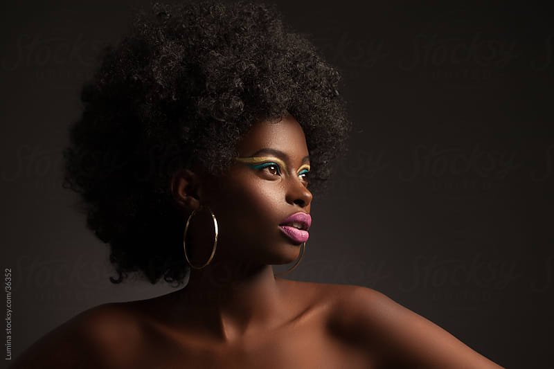 African Woman Portrait by Lumina for Stocksy United