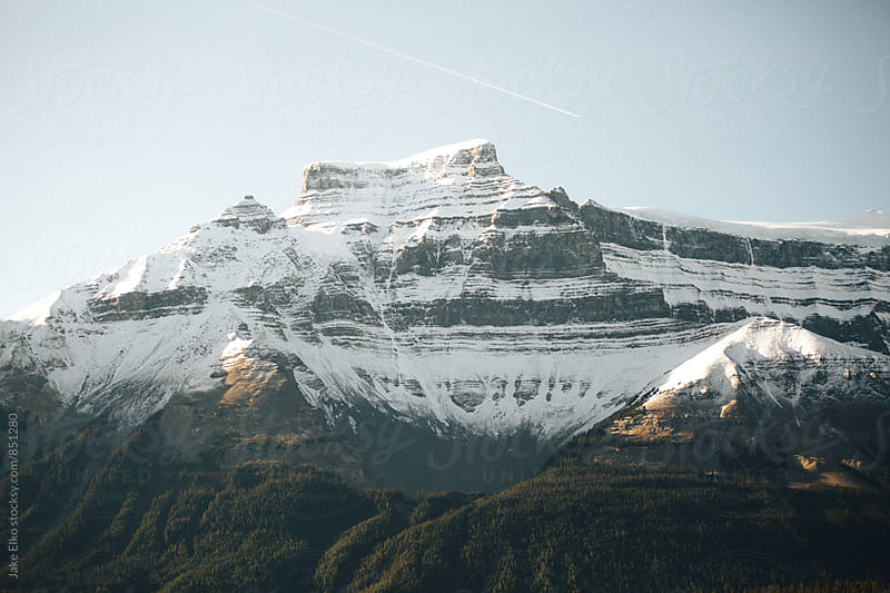 Beautiful Mountain Light Near Jasper National Park by Jake Elko for Stocksy United