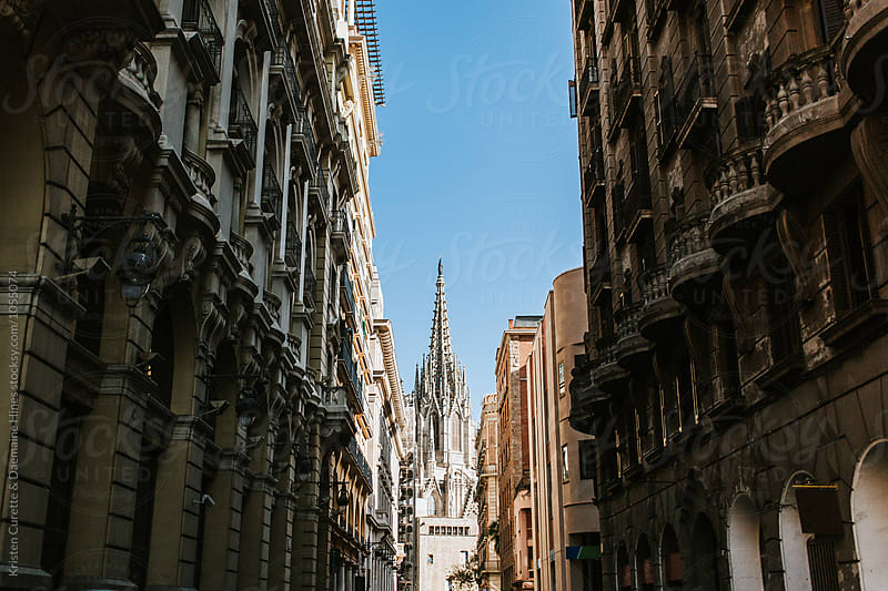 Gothic Quarter in Barcelona, Spain
