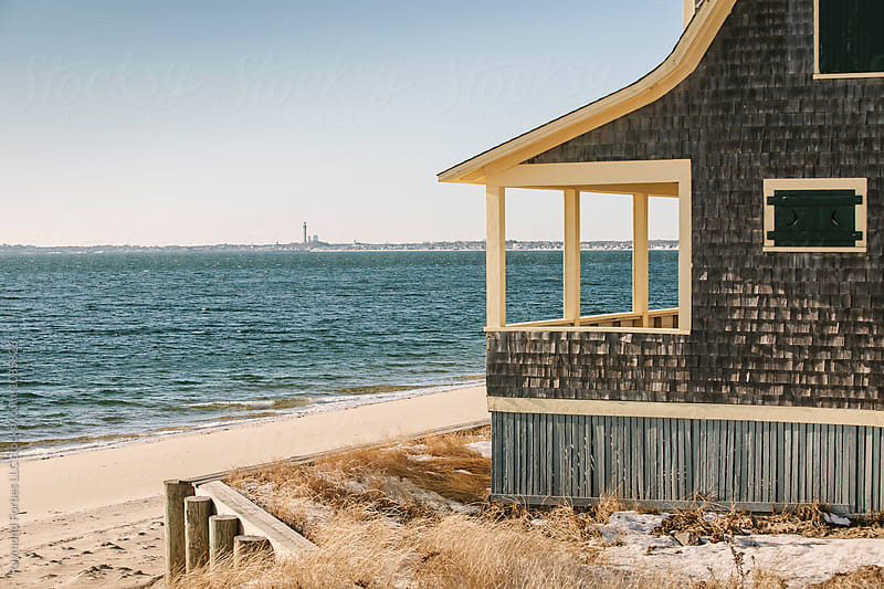 View to Provincetown In Winter by Raymond Forbes LLC for Stocksy United