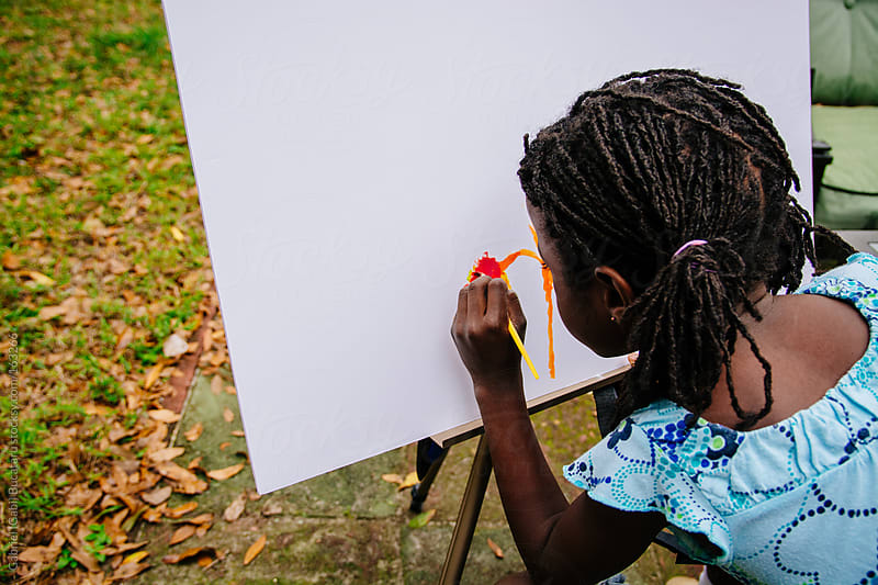 Black Girl Painting by Gabriel (Gabi) Bucataru for Stocksy United