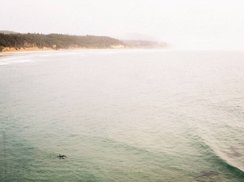 Surfing Oregon Coast by B. Harvey for Stocksy United