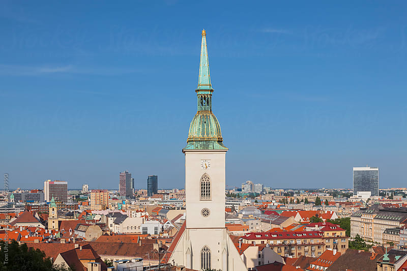Bratislava, Slovakia - City Skyline with the St. Martin's Cathedral by Tom Uhlenberg for Stocksy United