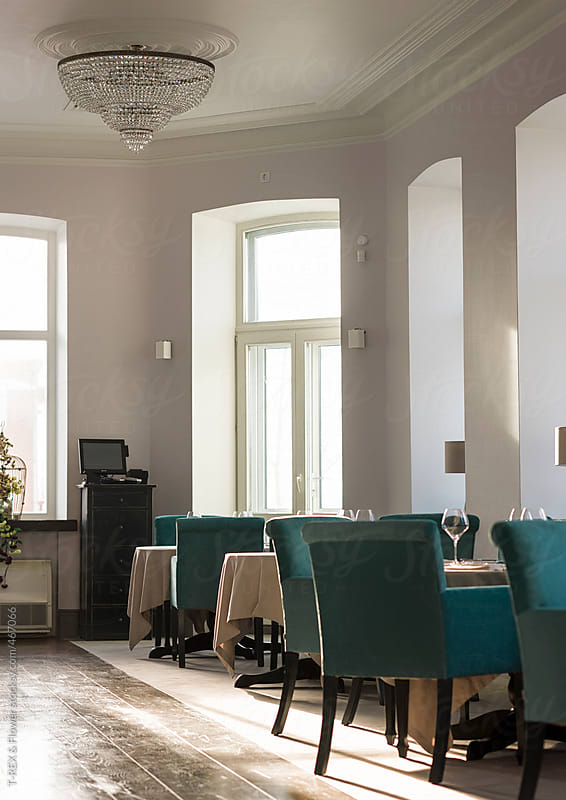 Luxury restaurant interior by Danil Nevsky for Stocksy United