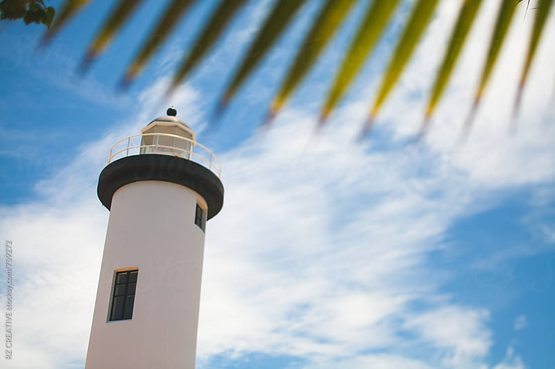 Lighthouse in Puerto Rico. by RZ CREATIVE for Stocksy United