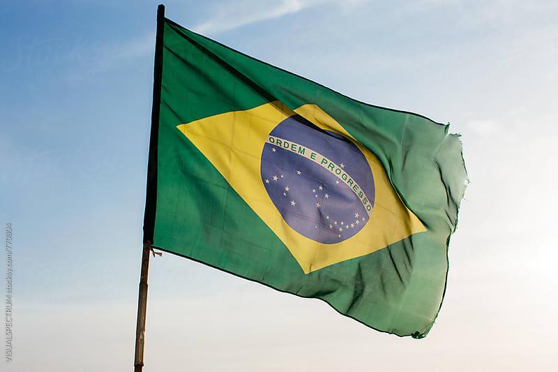 Brazilian Flag by Julien L. Balmer for Stocksy United