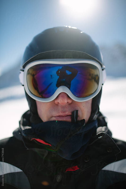 Portrait of a skier by Davide Illini for Stocksy United
