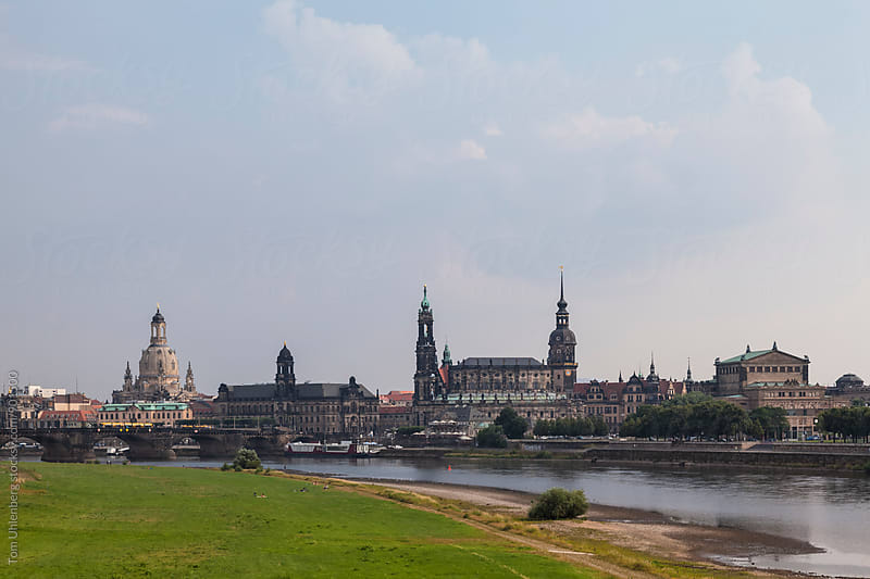 Dresden, Germany - City Skyline and the River Elbe by Tom Uhlenberg for Stocksy United