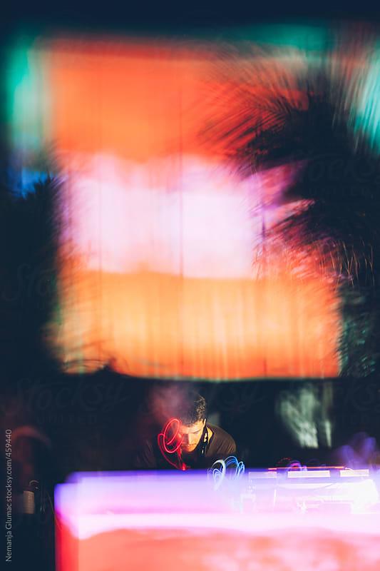 DJ Playing at the Beach Party by Nemanja Glumac for Stocksy United