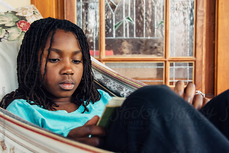 African American girl studying by Gabriel (Gabi) Bucataru for Stocksy United