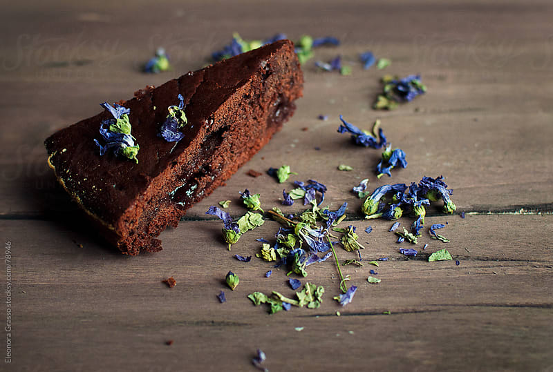 Chocolate cake by Eleonora Grasso for Stocksy United