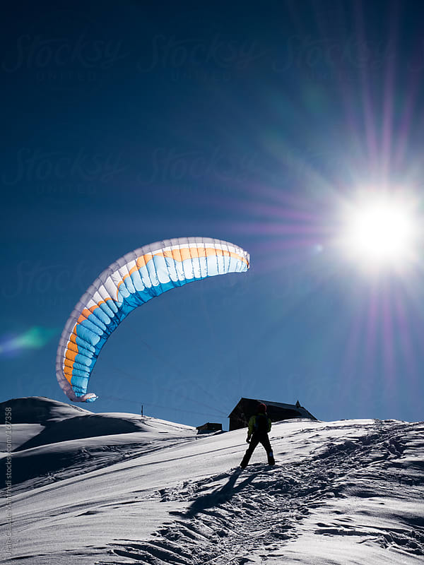 Paraski, extreme mountain sport by Jean-Claude Manfredi for Stocksy United