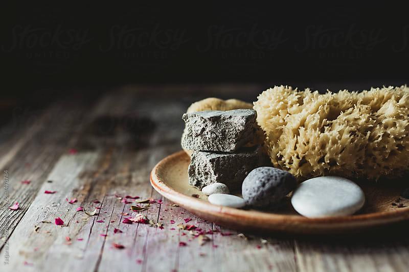 Natural Sponge and clay by Tatjana Zlatkovic for Stocksy United