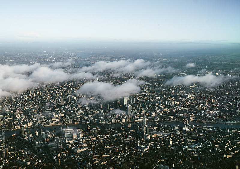 London Skyline Aerial by Agencia for Stocksy United