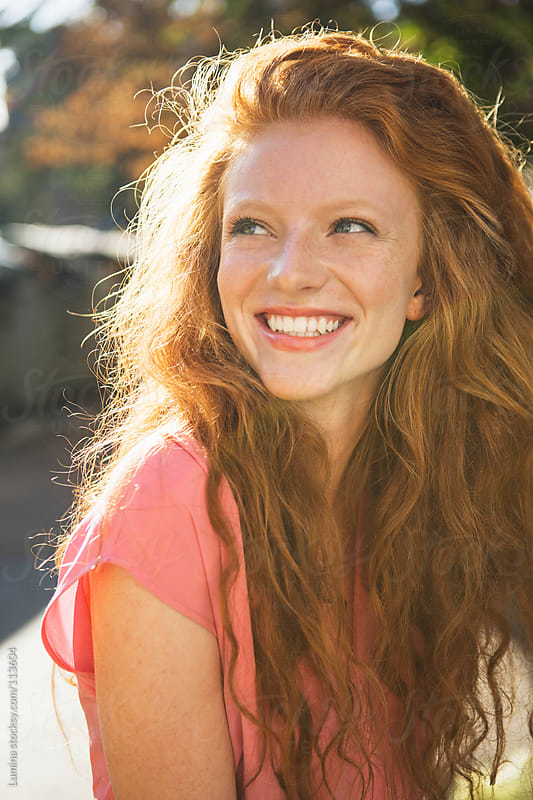 Ginger Woman With a Sunny Smile by Lumina for Stocksy United
