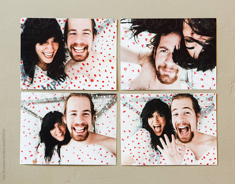 Hand painted / mark making photos of a young couple by Ivar Teunissen for Stocksy United