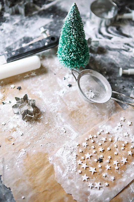 Baking christmas cookies. by Rachel Dewis for Stocksy United