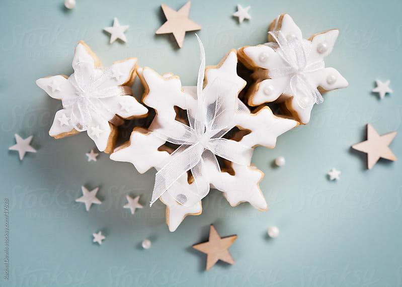 Pretty christmas cookies. by Rachel Dewis for Stocksy United
